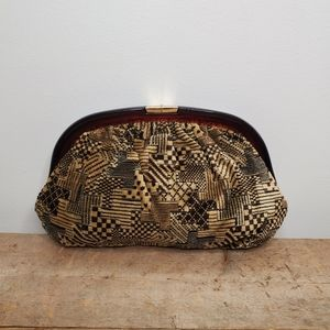 Vintage Cara Couture Carpet Tapestry Clutch